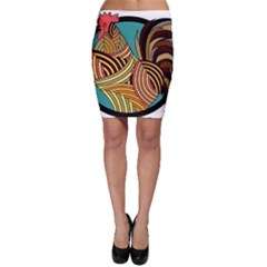 Rooster Poultry Animal Farm Bodycon Skirt