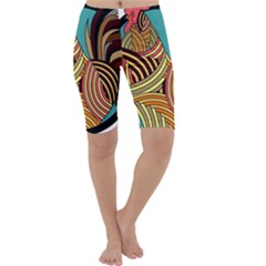 Rooster Poultry Animal Farm Cropped Leggings