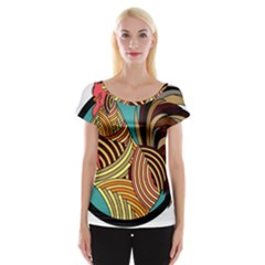 Rooster Poultry Animal Farm Women s Cap Sleeve Top