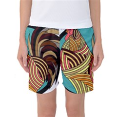 Rooster Poultry Animal Farm Women s Basketball Shorts