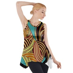 Rooster Poultry Animal Farm Side Drop Tank Tunic