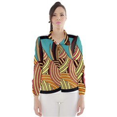 Rooster Poultry Animal Farm Wind Breaker (women)