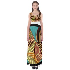 Rooster Poultry Animal Farm Empire Waist Maxi Dress