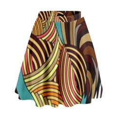 Rooster Poultry Animal Farm High Waist Skirt