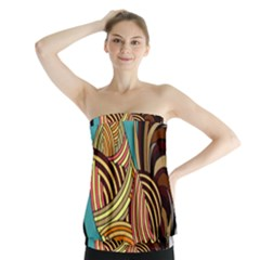 Rooster Poultry Animal Farm Strapless Top