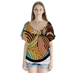 Rooster Poultry Animal Farm Flutter Sleeve Top