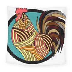 Rooster Poultry Animal Farm Square Tapestry (large)
