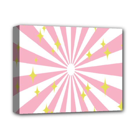 Star Pink Hole Hurak Deluxe Canvas 14  X 11