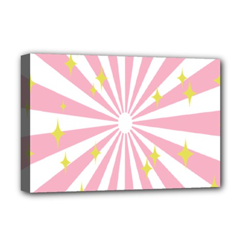 Star Pink Hole Hurak Deluxe Canvas 18  x 12