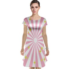 Star Pink Hole Hurak Cap Sleeve Nightdress