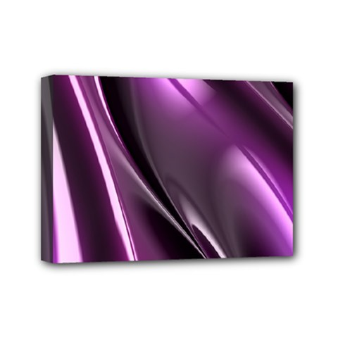 Purple Fractal Mathematics Abstract Mini Canvas 7  X 5