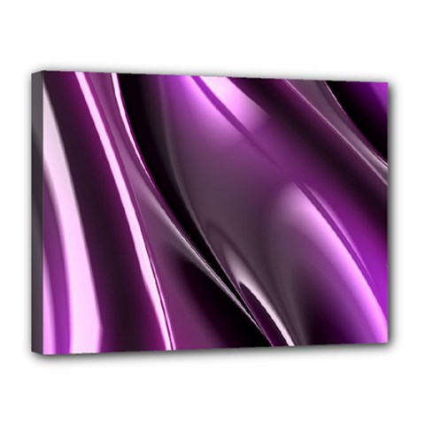 Purple Fractal Mathematics Abstract Canvas 16  X 12