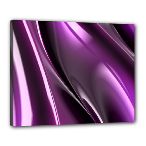 Purple Fractal Mathematics Abstract Canvas 20  X 16