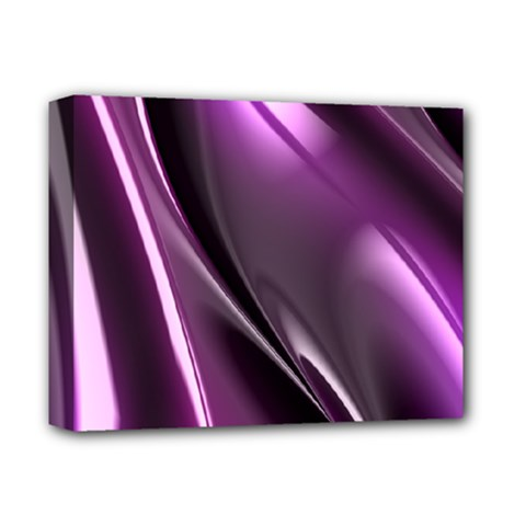 Purple Fractal Mathematics Abstract Deluxe Canvas 14  X 11