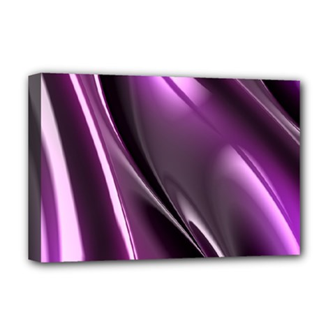 Purple Fractal Mathematics Abstract Deluxe Canvas 18  X 12