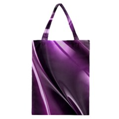 Purple Fractal Mathematics Abstract Classic Tote Bag