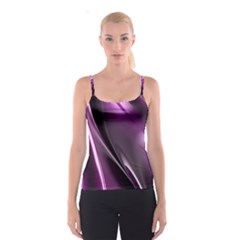 Purple Fractal Mathematics Abstract Spaghetti Strap Top