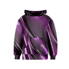 Purple Fractal Mathematics Abstract Kids  Pullover Hoodie