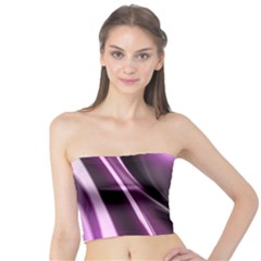 Purple Fractal Mathematics Abstract Tube Top