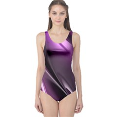 Purple Fractal Mathematics Abstract One Piece Swimsuit