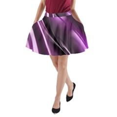 Purple Fractal Mathematics Abstract A Line Pocket Skirt