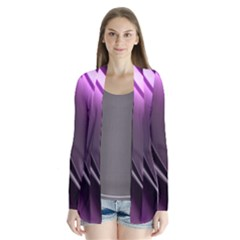Purple Fractal Mathematics Abstract Cardigans