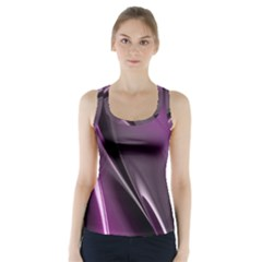 Purple Fractal Mathematics Abstract Racer Back Sports Top
