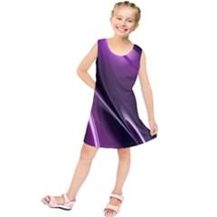 Purple Fractal Mathematics Abstract Kids  Tunic Dress