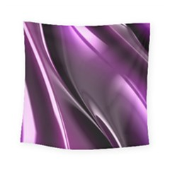 Purple Fractal Mathematics Abstract Square Tapestry (small)