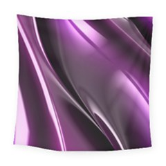 Purple Fractal Mathematics Abstract Square Tapestry (large)