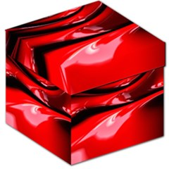 Red Fractal Mathematics Abstract Storage Stool 12