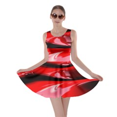 Red Fractal Mathematics Abstract Skater Dress