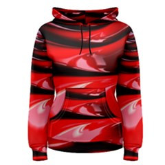 Red Fractal Mathematics Abstract Women s Pullover Hoodie