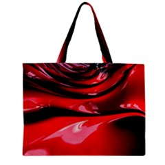 Red Fractal Mathematics Abstract Zipper Mini Tote Bag