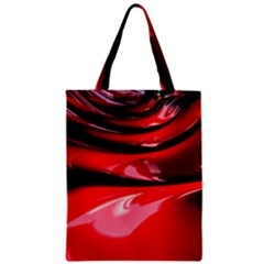 Red Fractal Mathematics Abstract Zipper Classic Tote Bag