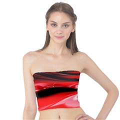 Red Fractal Mathematics Abstract Tube Top