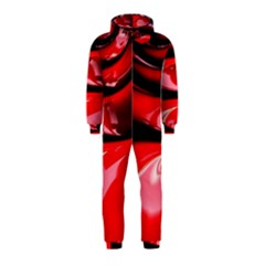 Red Fractal Mathematics Abstract Hooded Jumpsuit (kids)