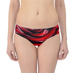 Red Fractal Mathematics Abstract Hipster Bikini Bottoms