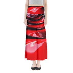 Red Fractal Mathematics Abstract Maxi Skirts