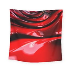 Red Fractal Mathematics Abstract Square Tapestry (small)