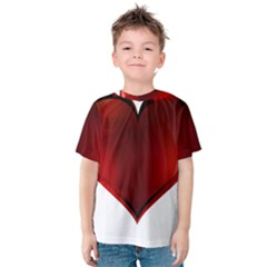 Heart Gradient Abstract Kids  Cotton Tee
