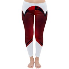 Heart Gradient Abstract Classic Winter Leggings