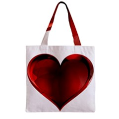 Heart Gradient Abstract Zipper Grocery Tote Bag