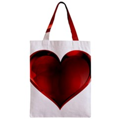 Heart Gradient Abstract Zipper Classic Tote Bag