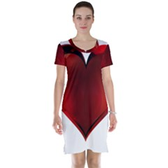Heart Gradient Abstract Short Sleeve Nightdress