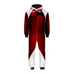 Heart Gradient Abstract Hooded Jumpsuit (kids)