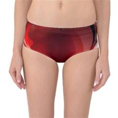 Heart Gradient Abstract Mid-Waist Bikini Bottoms