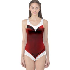 Heart Gradient Abstract One Piece Swimsuit