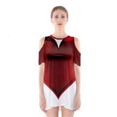 Heart Gradient Abstract Shoulder Cutout One Piece