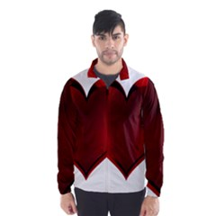 Heart Gradient Abstract Wind Breaker (men)